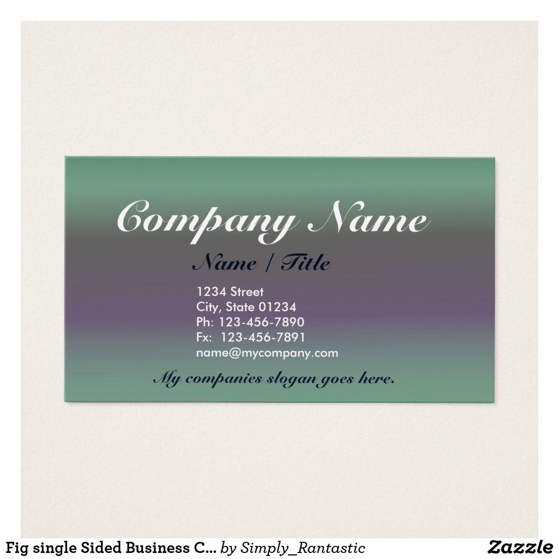 Fig single sided business card template v3 business cards and card fig single sided business card template v3 colourmoves