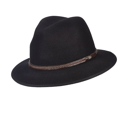 Explorer - Scala DF161 Black Crushable Wool Felt Safari Hat in 2019 ... 456cf6602bd5
