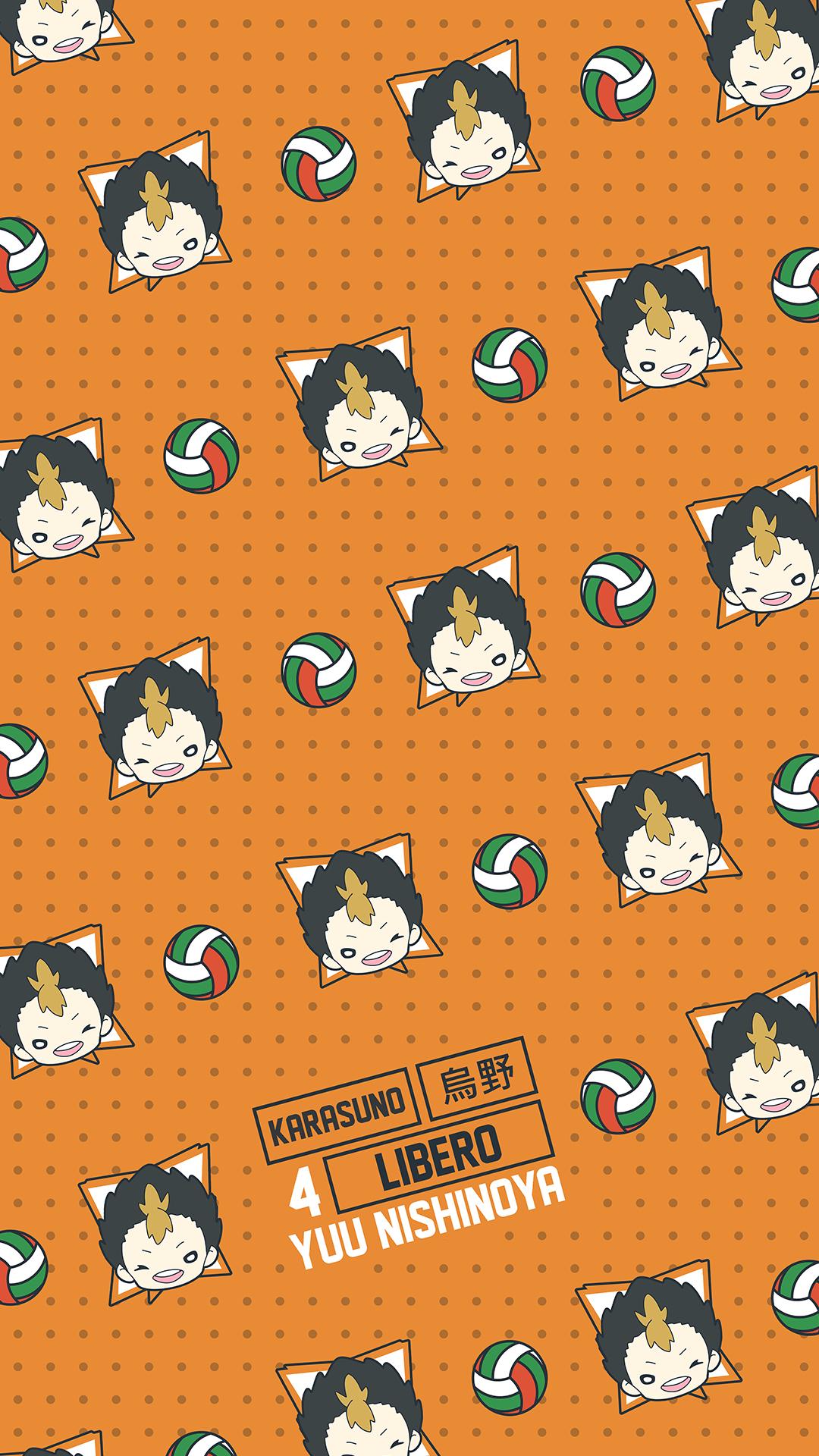 Yuu Nishinoya Pattern Wallpaper