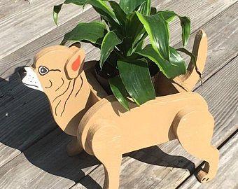Dalmatian Animal Planter. Dogs. Wooden Garden Decorations. Handmade. Animal Lover. Indoor/Outdoor