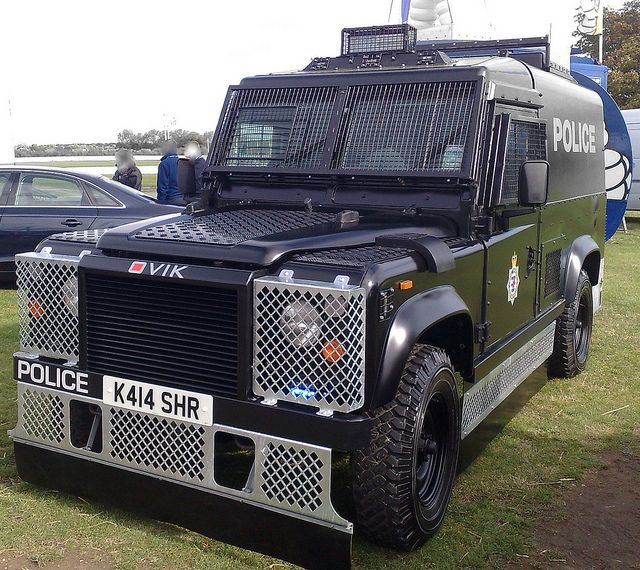 POLICE ARMOURED LANDROVER . by NW54 LONDON, via Flickr