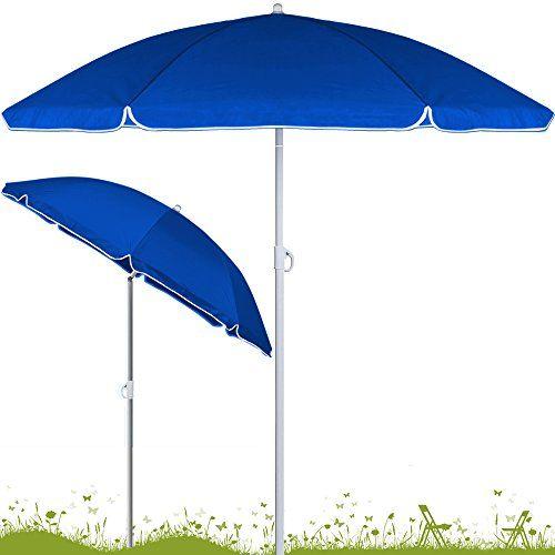 Parasol Inclinable Hauteur Reglable 180 Ou 200cm Jardin Plage Terrasse Mat Et Entretoises En Acier Reglable En Parasol Inclinable Parasol Idees De Patio