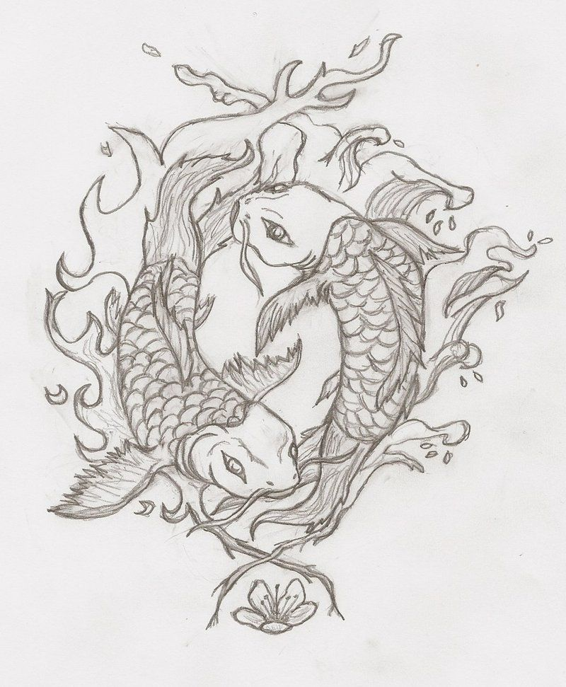 Yin Yang Koi Fish Tattoo Design By Nathan Smith   Tatt   Pinterest ...