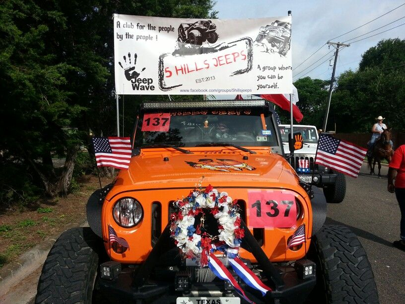 5 Hills Jeeps Representing The 4th Of July Parade In Belton Texas Jeep 4th Of July Parade Jeep Wrangler
