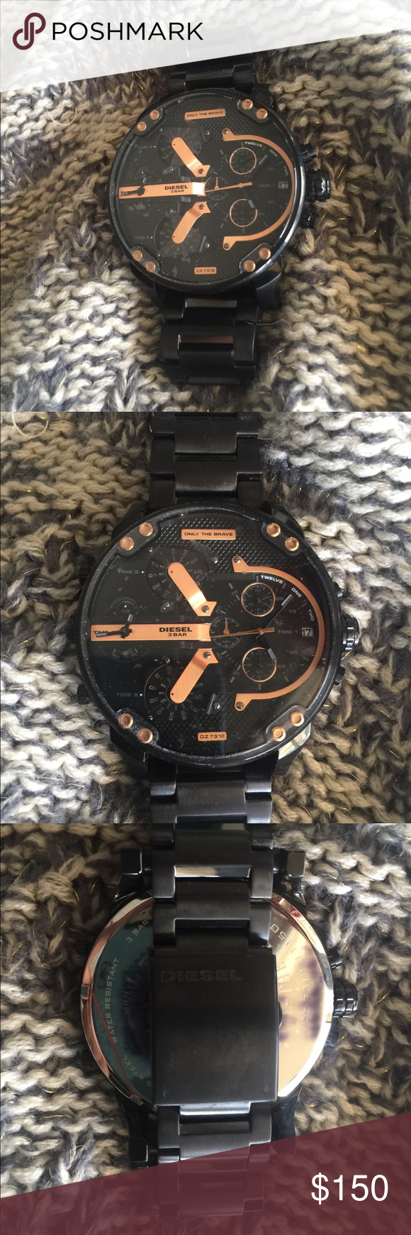 You can use the Diesel DZ7312 Mr. Daddy 2.0 Black & Copper Watch Like new -  never worn!