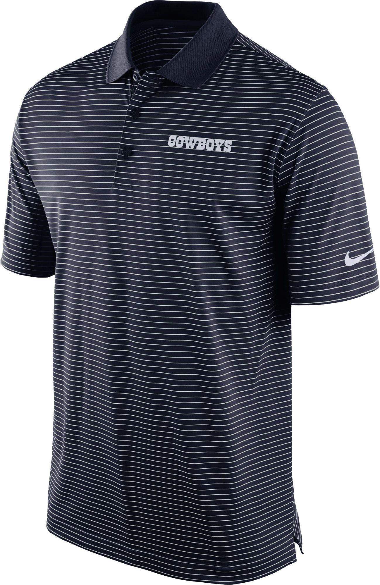 d5568e491d897 Nike Men s Dallas Stripe Dri-FIT Navy Polo