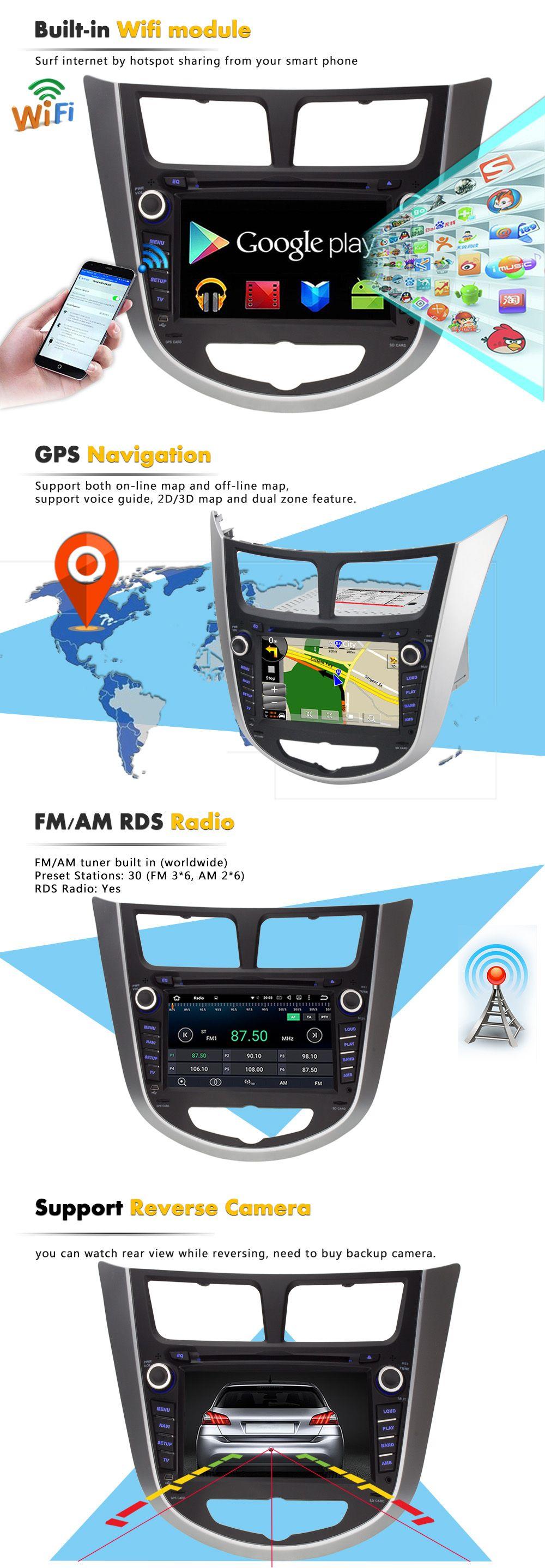 7 android autoradio car multimedia stereo gps navigation
