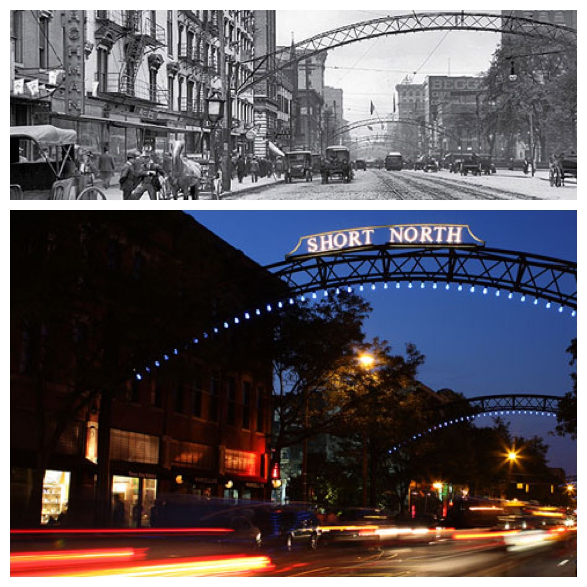 Short North - Columbus, Ohio Then & Now
