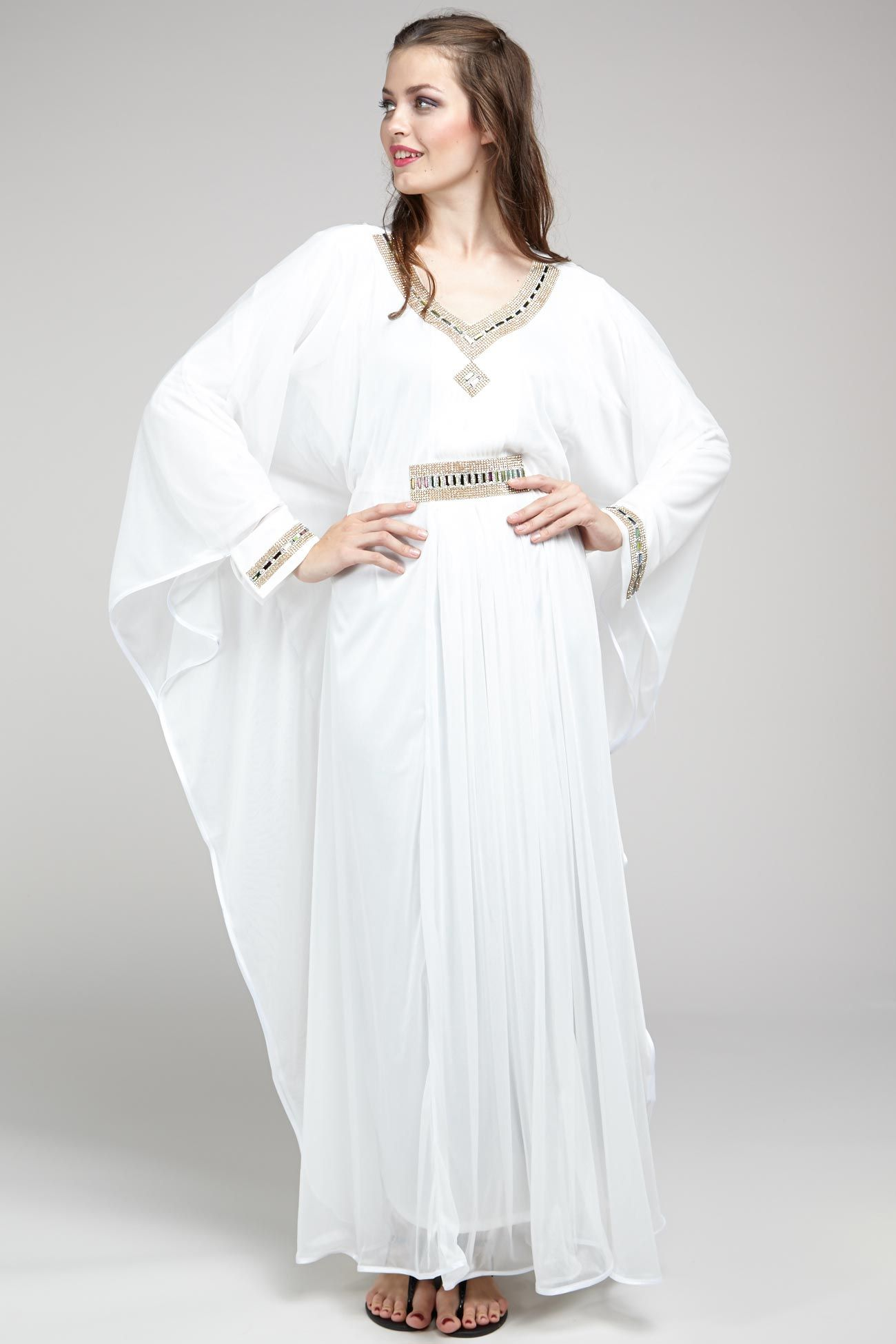 white long dress for muslim  Dresses, White gowns, Long white dress