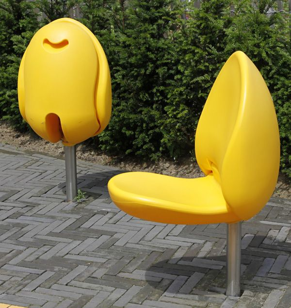 Yellow Tulip Chairs by Marco Manders