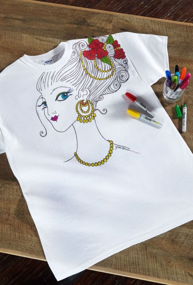 Diy home stencil adhesive by artminds diy fashion - How to design your own shirt at home ...