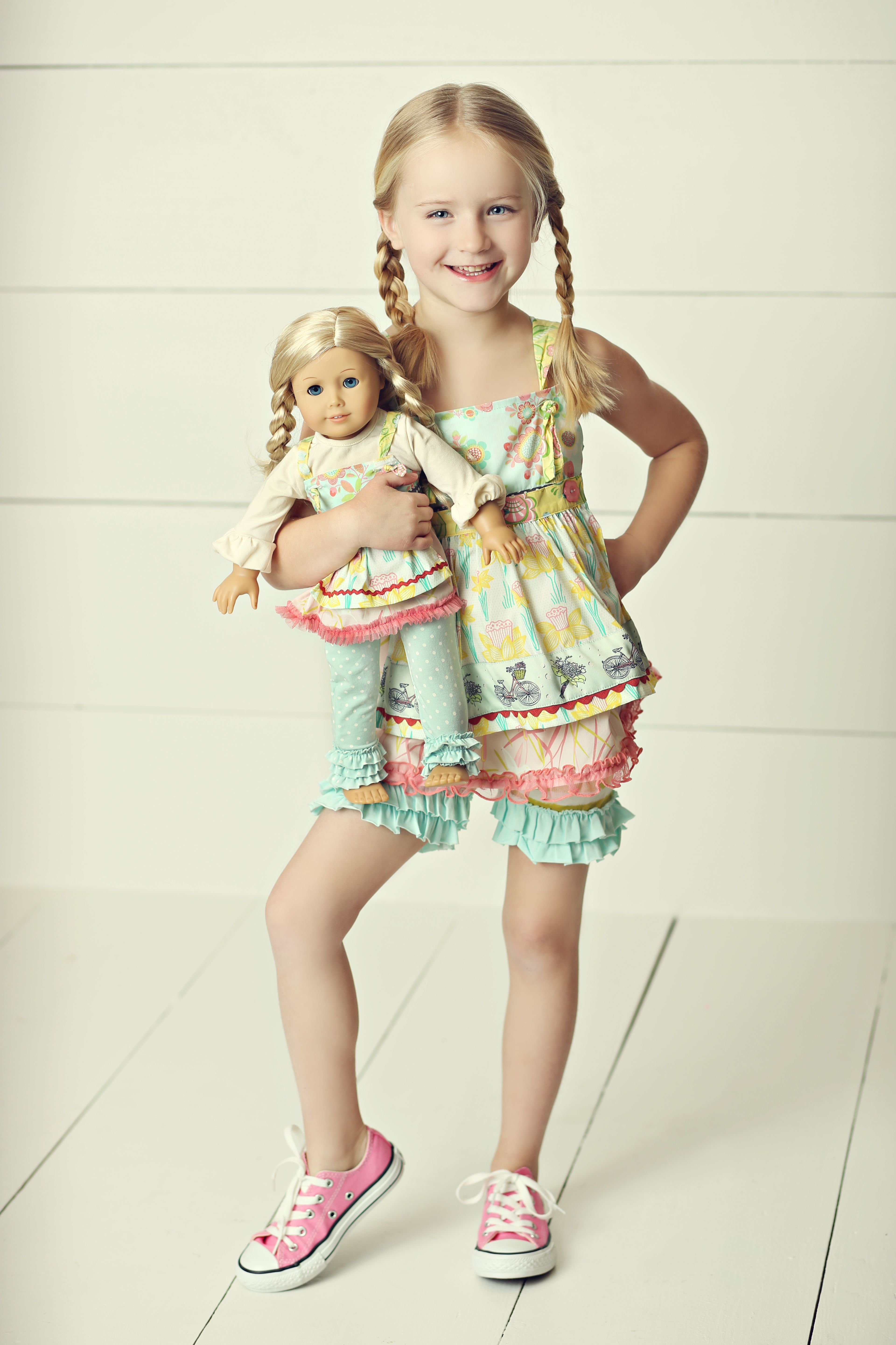 Ma matilda jane good luck trunk coupon code - Madelyn Loves Her Matching Doll Outfit Spring In The Meadow Knot Top More Than Frills Shorties And Promotional Doll Outfit