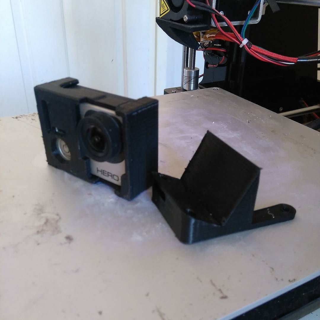 And here is the finished part. 30'deg GoPro mount! #abs #3dprint #3dprinting #fpv #fpvracing by multirotorsa
