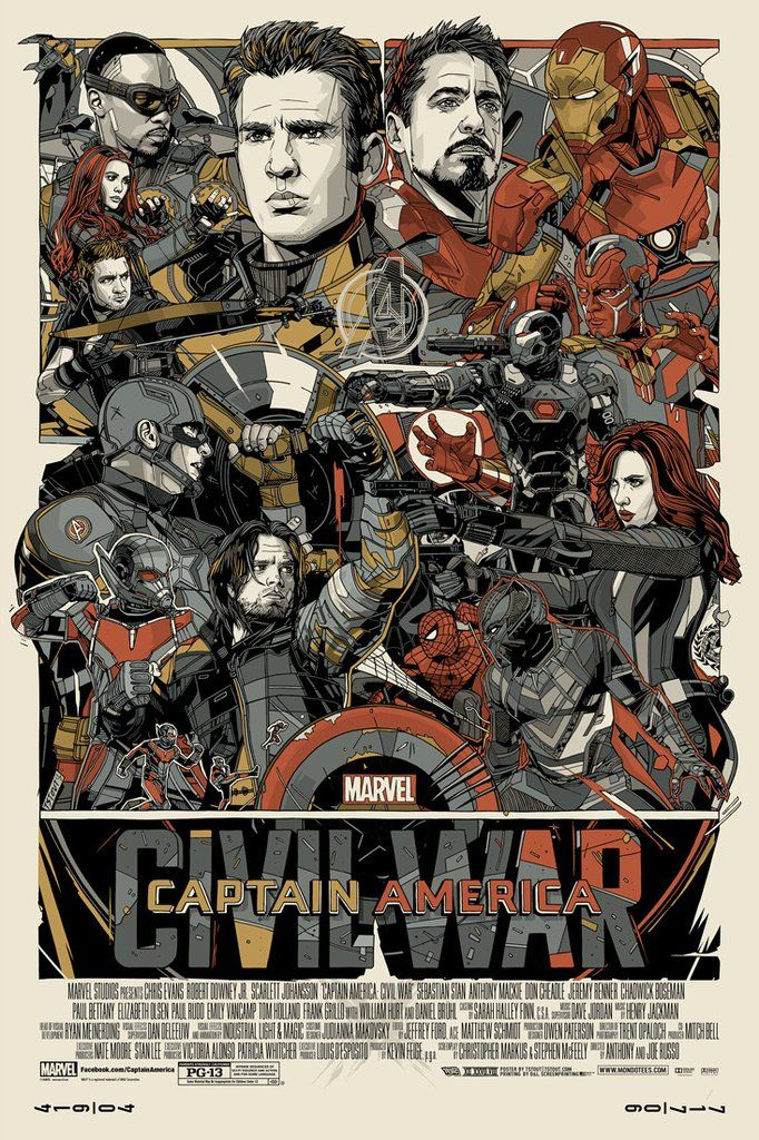 New Poster Release: CAPTAIN AMERICA: CIVIL WAR by Tyler Stout!