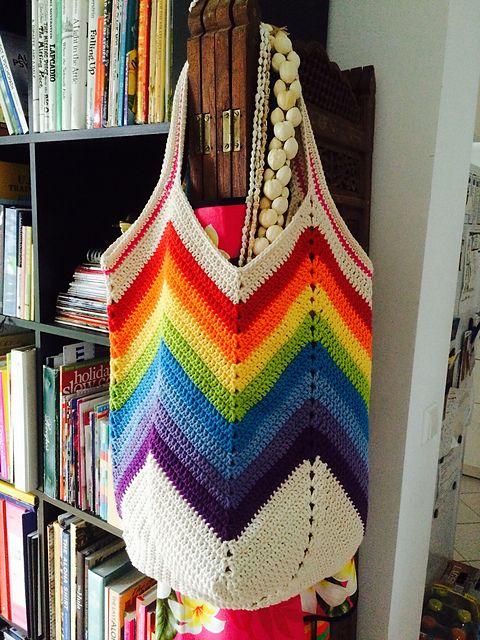 Crochet Solid Granny Square Bottom Bag Crochet ❥ 4U hilariafina ...