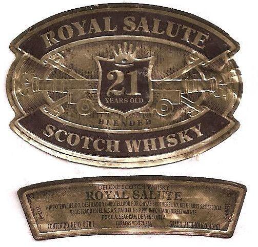 Etiqueta de bebida: Royal Salute (Cchivas Brothers Ltd, Venezuela) Col:VE-WHISKY-0020 #colnect #collection #drink_labels