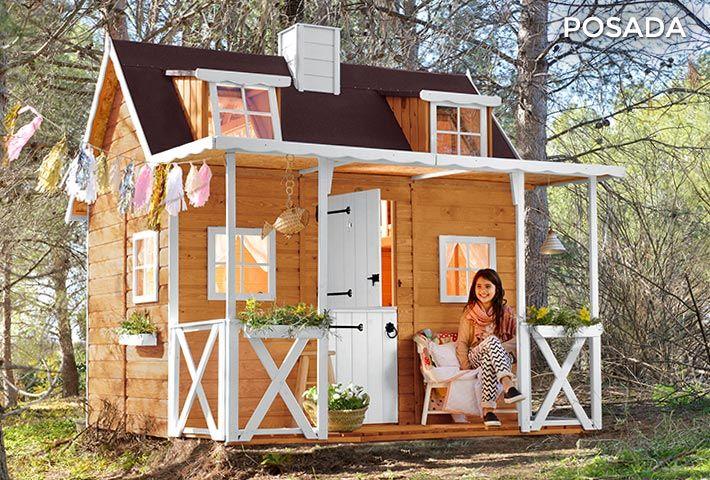 Casita de madera para niños POSADA casa del árbol Pinterest
