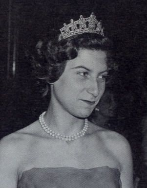 Princess Eugénie of Greece and Denmark (1910-1989) was the youngest child and only daughter of Prince George of Greece and Denmark and his wife, Marie Bonaparte, daughter of Prince Roland Bonaparte. Her father was the second son of George I of Greece and Olga Constantinovna of Russia. https://en.wikipedia.org/wiki/Princess_Eug%C3%A9nie_of_Greece_and_Denmark