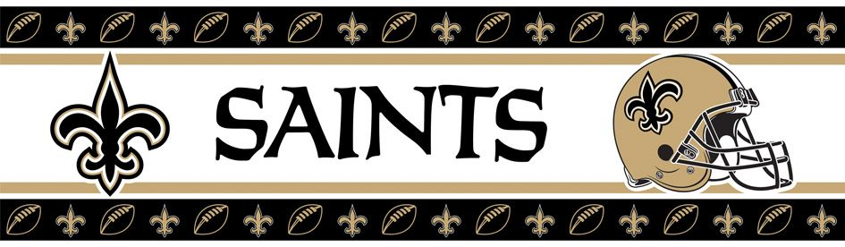 NFL New Orleans Saints Wall Paper Border New orleans
