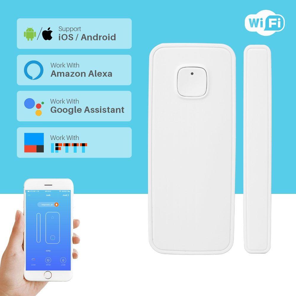 Wireless Wifi Door Alarm Window Sensor Detector Smart Home Security Door Magnetic Switch System Amazon Alexa App Control In 2020