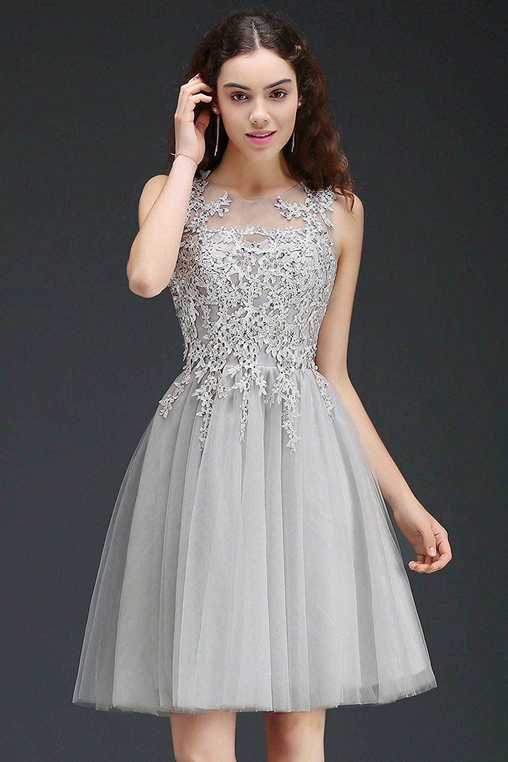 e626d0f7274 MisShow Women s Beading Lace Homecoming Dresses 2017 Short Prom Gowns