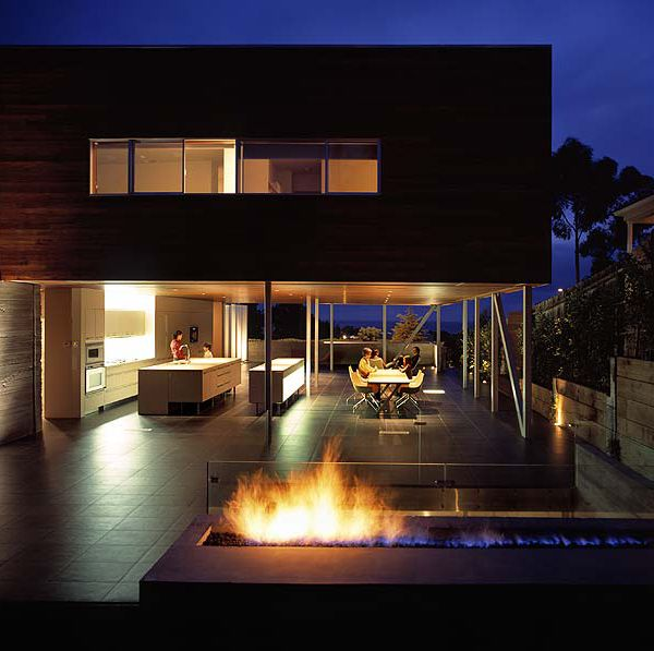 Stilted Houses  2 Stilt Homes Of Wood Clad Design Built For Glamorous La Jolla Living Room Design Inspiration