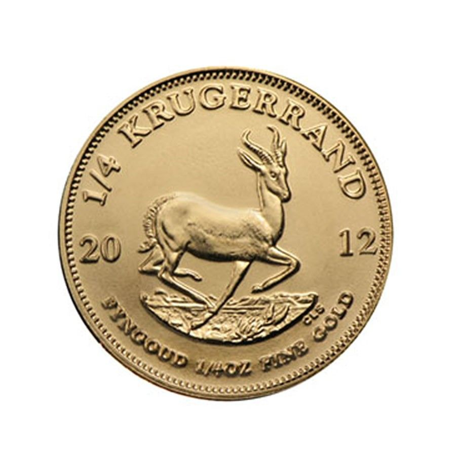 South African Krugerrand 1 4 Oz 2012 Prior Gold Coins Silver Bars Silver Bullion
