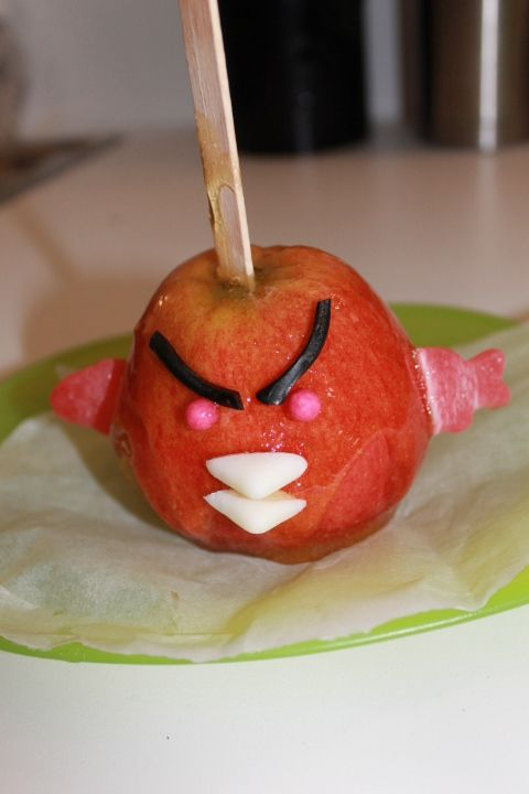 www.msadventures.blog.com  Angry birds birthday party.   Angry apple favors.