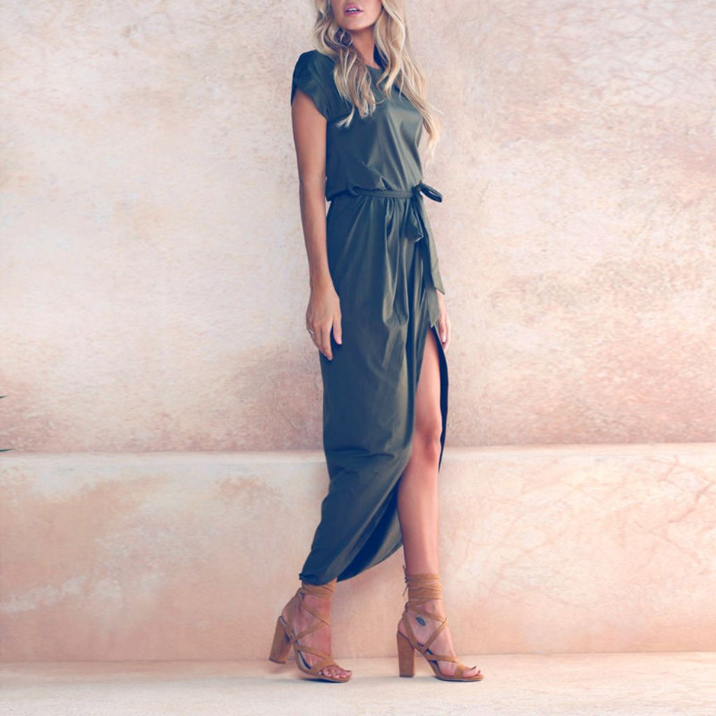 Sale sxl regina army green maxi dress green maxi dresses army