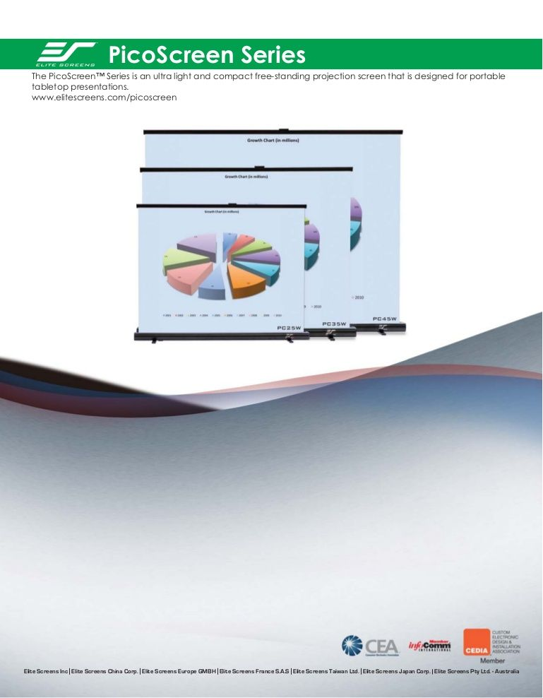 Elite pico screen by DukaneAVMarketing via slideshare