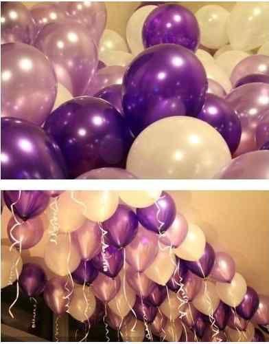 100 Pcs Purple and Light Purple Balloon Wedding Birthday Party