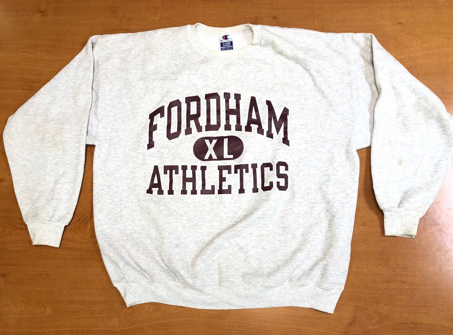 Vintage 1990s Fordham University Crewneck Sweatshirt Champion Size Xl Hoodie Cross Country Track Basketball Sports Sweatshirts Sweatshirts Crew Neck Sweatshirt [ 1124 x 1520 Pixel ]