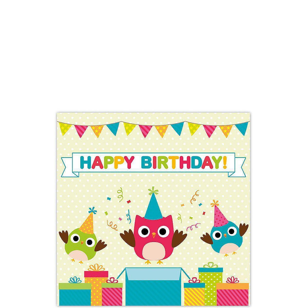CARD Happy Birthday owl    Sie wählen Ihr Lieblingsmotiv aus der großen Auswahl - und haben beim Schreiben gute Karten. Denn die Rückseite dieser Karte im klassischen Postkartenformat ist nicht unterteilt, so dass die komplette Fläche für Text, Zeichnungen, Aufkleber und andere Ideen genutzt werden kann.    Größe: ca. B 10,5 x H 15 cm...