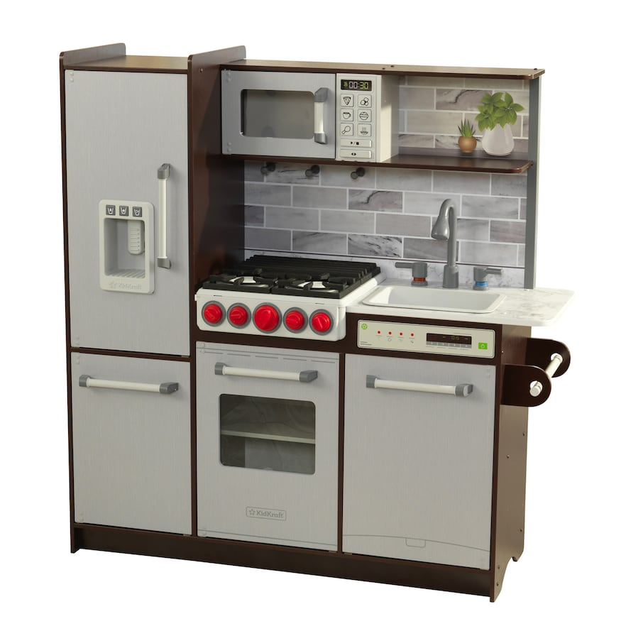 KidKraft Uptown Elite Espresso Play Kitchen | Uptown kitchen ...