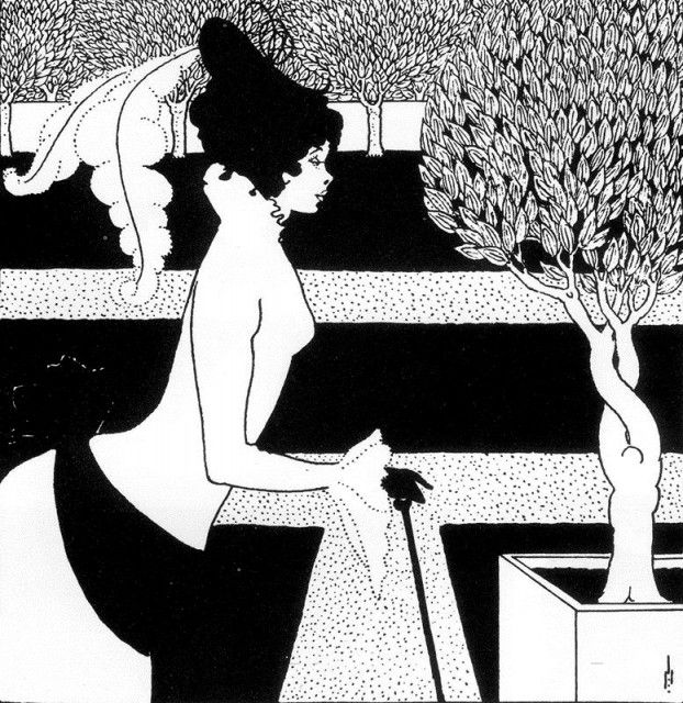 Aubrey Beardsley - Design for title-page of The Yellow Book