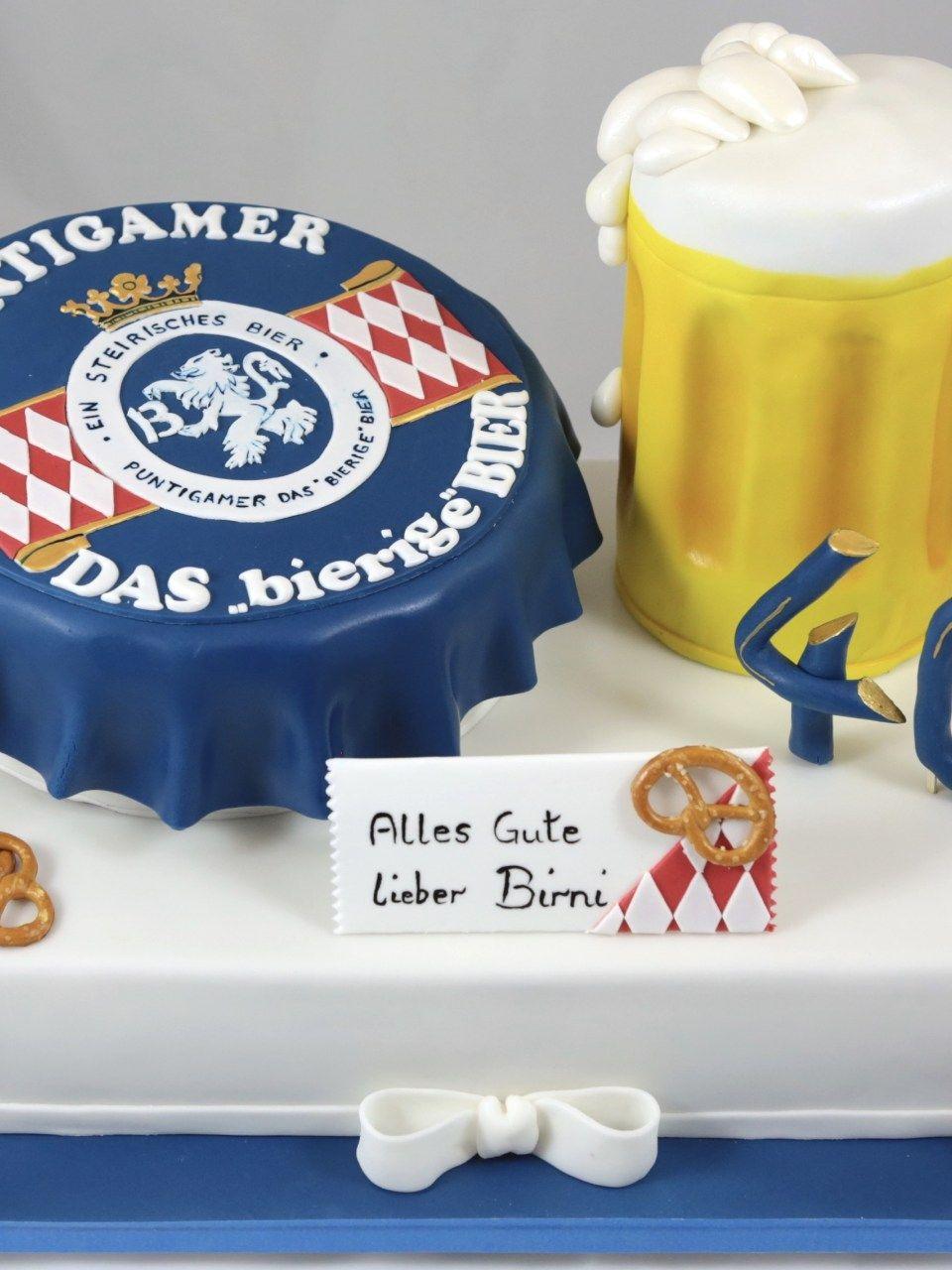 Puntigamer Torte Cake Beer Bier Krug Kronenkorken Bierkuchen