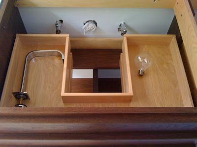 Quot U Quot Shaped Vanity Drawers To Accommodate Sink Plumbing No