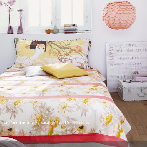 Die Bettwäsche Im Asia Look Ist Mit Einer Japanische
