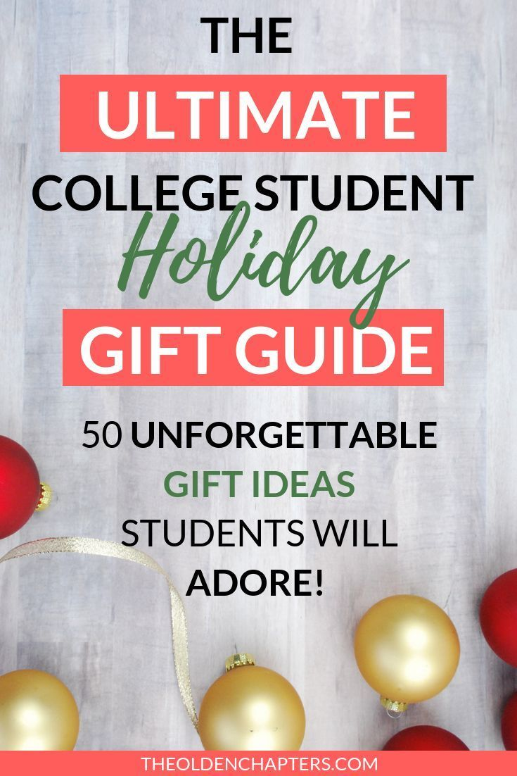 The Ultimate College Student Holiday Gift Guide - The Olden Chapters #cheapgiftideas