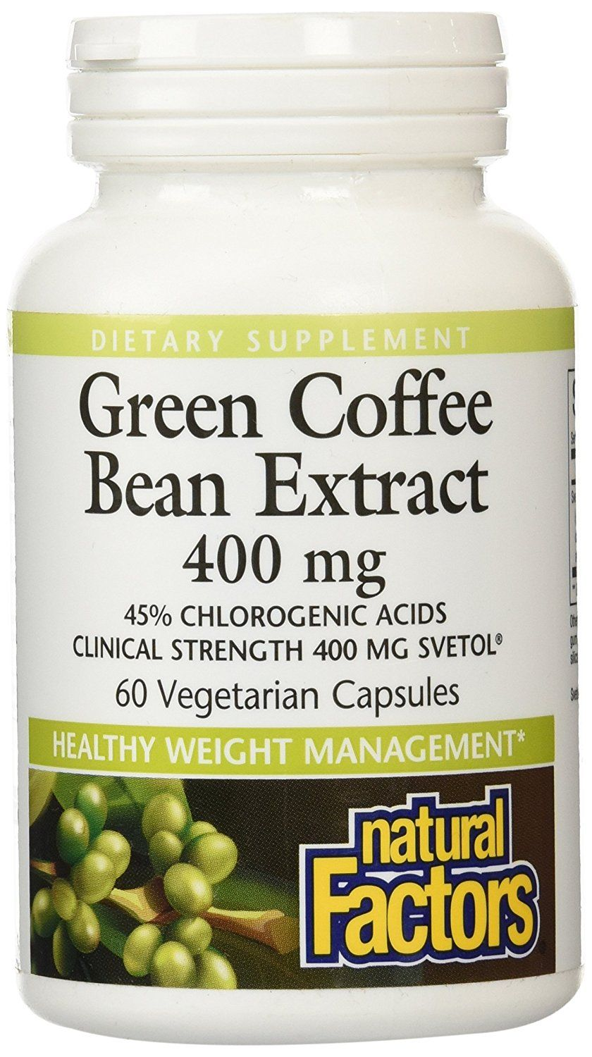 Natural Factors Green Coffee Bean Extract, Supports