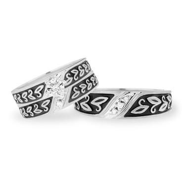 Sterling Silver and Diamond Trio Set JC Penney 18 CT TW
