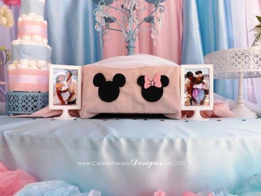 Minnie Mickey Baby Shower Twins It S A Boy Girl Minnie Baby Shower Boy Baby Shower Centerpieces Mickey Baby Showers