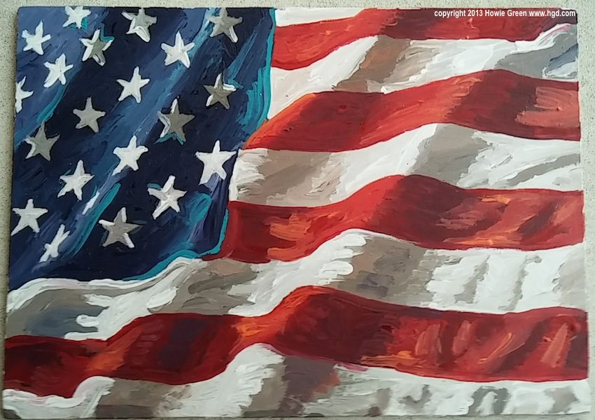 American flag painting is part of American flag painting, Flag painting, American flag art, Flag art, Art, Flag - gallery Thanks for looking