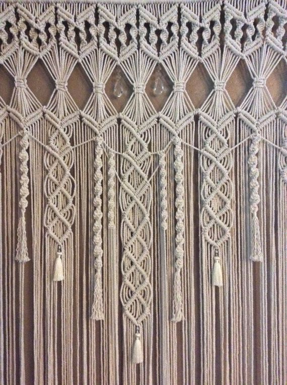 large macrame wall hanging tapestry wedding backdrop bohemian boho decor wandteppich. Black Bedroom Furniture Sets. Home Design Ideas