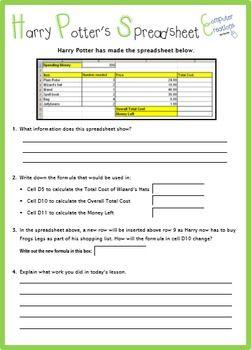 Microsoft Excel - Pinky's Spreadsheets (Worksheet Task ...