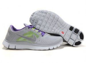 2012 Nike Free 5.0 V3 Womens Running Shoes Grey Green Purple