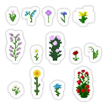 'Minecraft flower mix pack' Sticker by OddlyEven