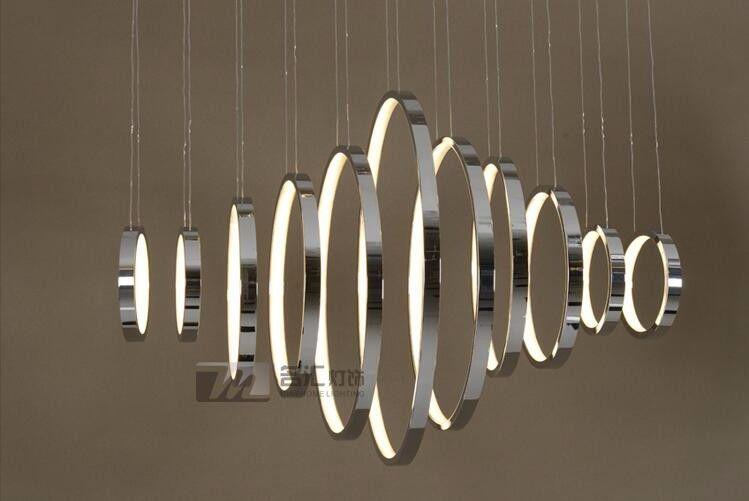 Pour restaurant foyer chambre salle à manger droplight Moderne ronde - lustre pour salle a manger