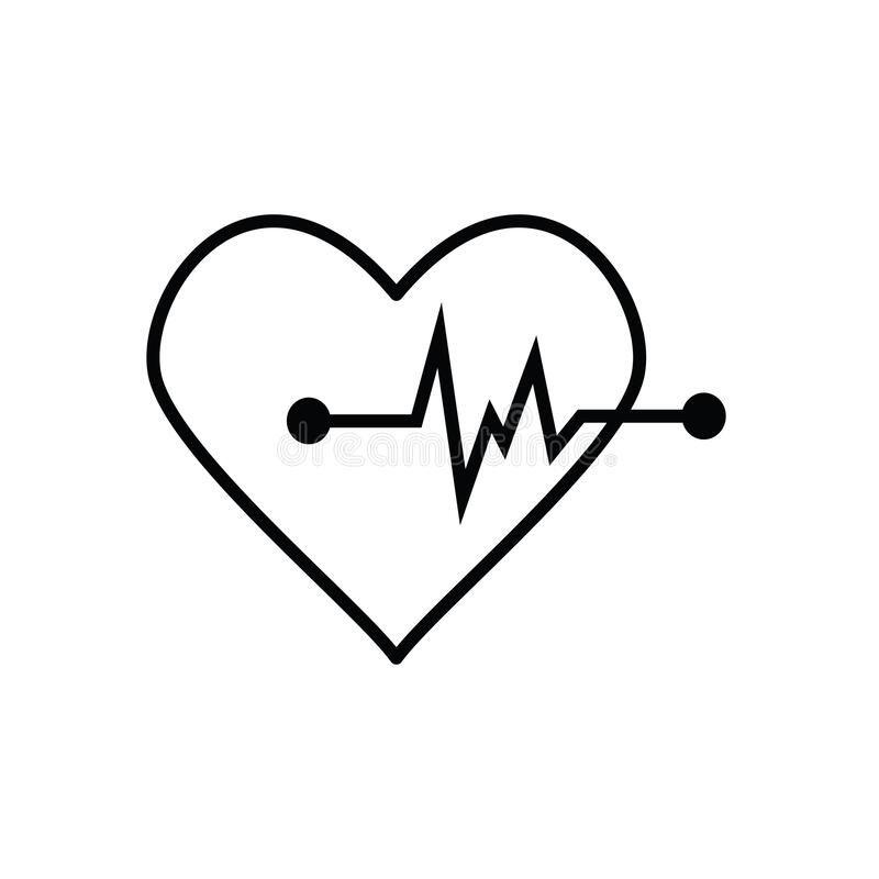 Heartbeat Breath Hearticon The Heartbeat Icon The Sign To Check The Healtcar Sponsored Ad Sponsore Graphic Art Prints Heart Icons Vector Illustration