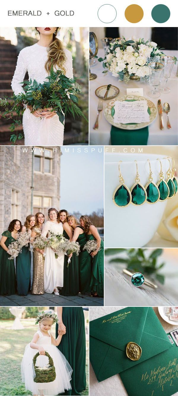 12 Best Color schemes for Weddings 2020 Emerald wedding